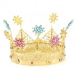 Corona reale con strass colorati