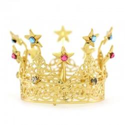 Corona reale con stelle e strass