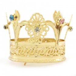 Corona per statua in ottone con strass