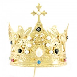 Corona reale con strass e perle