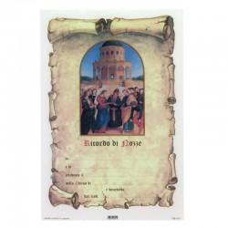 Pergamena Ricordo di Nozze 17x25 cm