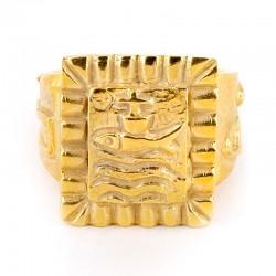 Anello Vescovile con simbolo pesce in argento dorato 925°°