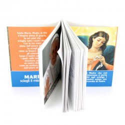 Booklet with Novena to Mary Untier of Knots Shalom Edition