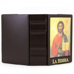 Custodia Bibbia di Gerusalemme Cristo 20,5x14x6,5 cm