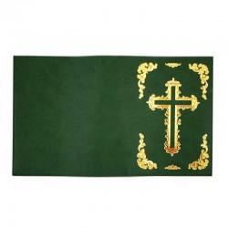 Custodia Bibbia di Gerusalemme in pelle verde 20,5x14x6,5 cm