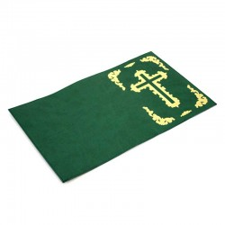 Jerusalem Bible Cover green leather 20.5x14x6.5 cm