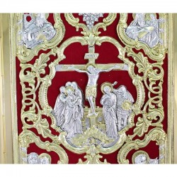 Brass Missal Cover Crucified Jesus 27x34 cm