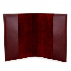Lectionary Cover Bordeaux Leather Christ and Virgin 22x32x4.5 cm