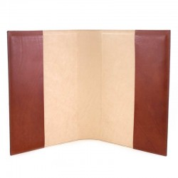 Lectionary Cover Real Leather Christ and Virgin 22x32x6 cm