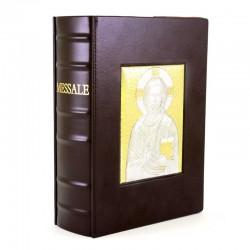 Custodia marrone per Messale Romano nuova edizione 20,5x28,5 cm