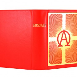 Red case for Roman Missal Alpha and Omega  20x29,5x8 cm