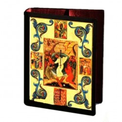 Leather Lectionary Cover Resurrection 31.7x24.5x7.5 cm