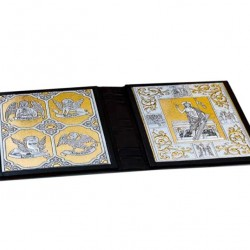 Leather Luxury Lectionary Cover Silver Plaque 31.7x24.5x7.5 cm