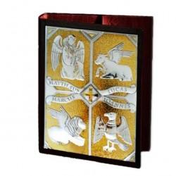 Gospel Book Cover Silver Plaque Evangelists 36.2x25.6x6.4 cm