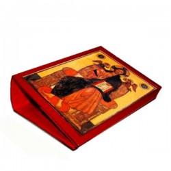 Custodia per Messale in pelle Cristo in trono 31,7x23,7x9,7 cm