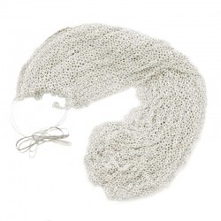 Closed chain skein in silver-plated brass 0.7 mm