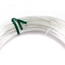 Skein of silver-plated copper wire thickness 0.7 mm