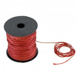Waxed lace burgundy Coil 100 meters