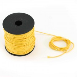 Waxed lace amber yellow. Coil 100 meters