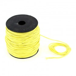 Waxed lace lemon yellow. Coil 100 meters