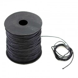 Waxed lace black. Coil 100 meters