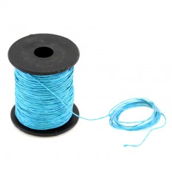 Waxed lace light blue. Coil 100 meters