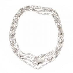 925 silver figaro chain Length 52 cm