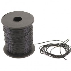 Black waxed lace 100 meters thickness 1.2 mm