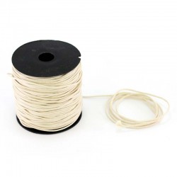 Ivory waxed lace 100 meters thickness 1.2 mm