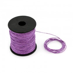Lilac waxed lace 100 meters thickness 1.2 mm