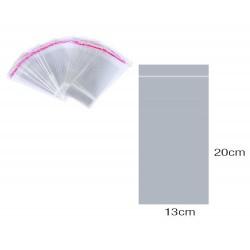Bustina in plastica chiusura adesiva 13x20 cm pezzi 100