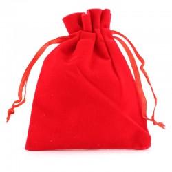 Sacchetto in velluto rosso 8x10 cm