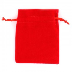 Red velvet bag 8x10 cm