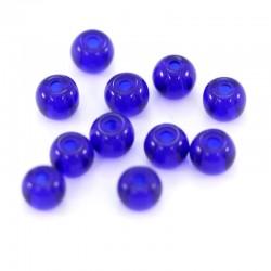 Grano tondo in vetro blu scuro Diametro 4 mm 13000 pezzi