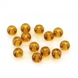 Grano tondo in vetro ambra Diametro 4 mm 13000 pezzi