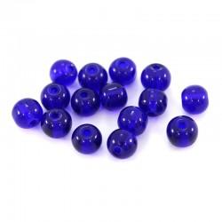 Grano tondo in vetro blu scuro Diametro 6 mm 2900 pezzi