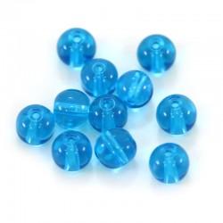 Grano tondo in vetro azzurro diametro 8 mm 1300 pezzi