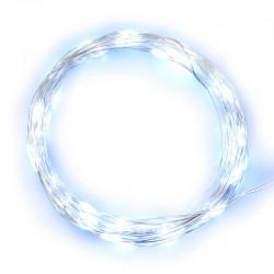Catena 40 micro Led bianco luce fissa a batteria