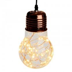 Lampadina vetro e rame 40 microled classic 25 cm