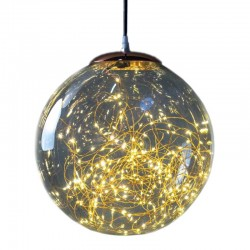 Lampada sfera vetro e rame 180 microled classic diametro 30 cm