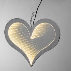 Double sided Heart Warm White Light 32x27 cm