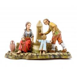 Scena Famiglia alla fontana Moranduzzo 10 cm