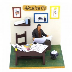 Moving Architect with dressed terracotta 12 cm