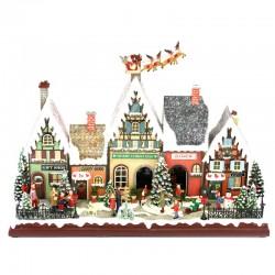 Carillon case con Babbo Natale 49x36x15 cm