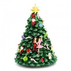 Carillon Albero di Natale schiaccianoci 12x16 cm