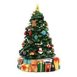 Carillon Albero di Natale con regali 14x21 cm