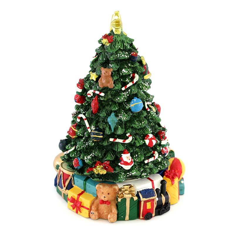 Albero Di Natale Regali.Carillon Albero Di Natale Con Regali 14x21 Cm