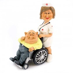 Nurse with patient 18 cm Funny Collection