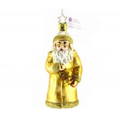 Addobbo Babbo Natale Dorato 12,5 cm Inge-Glas