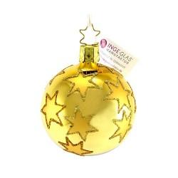 Addobbo sfera dorata con stelle Diametro 6 cm Inge-Glas